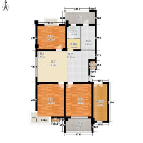 世纪名都-恒辉花园3室0厅1卫1厨158.00㎡户型图