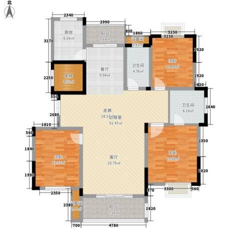 兴福锦园3室0厅2卫1厨142.00㎡户型图