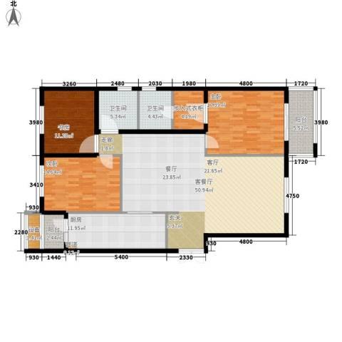 花园五座3室1厅2卫1厨146.00㎡户型图