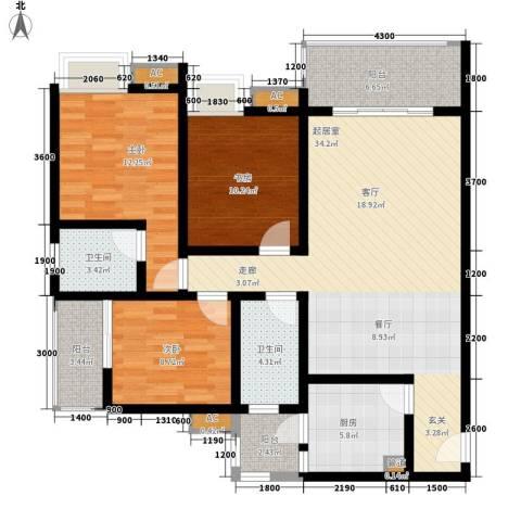 金杜洋光3室0厅2卫1厨99.00㎡户型图
