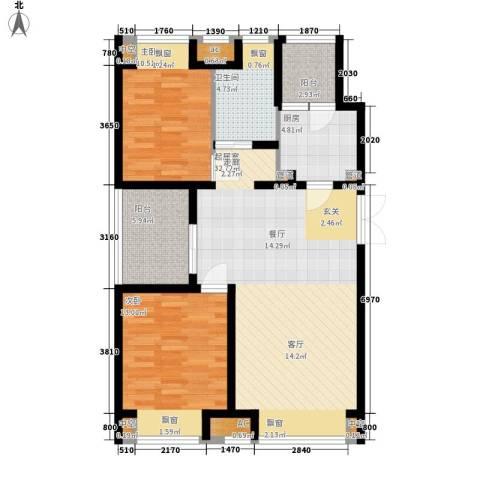 新浦江城2室0厅1卫1厨111.00㎡户型图