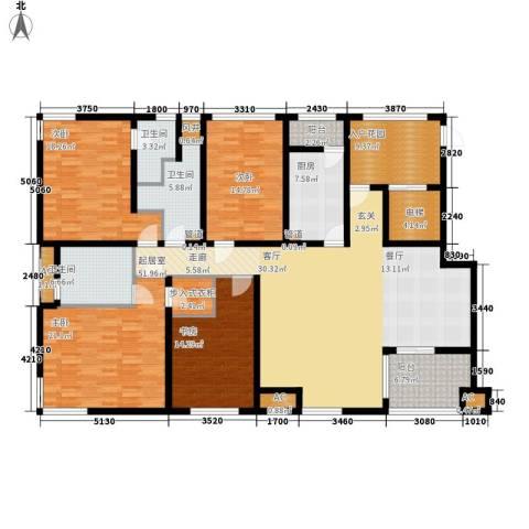 新浦江城4室0厅3卫1厨246.00㎡户型图