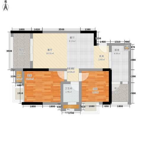 金杜洋光2室0厅1卫1厨62.00㎡户型图