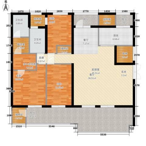 新浦江城3室0厅2卫1厨160.00㎡户型图
