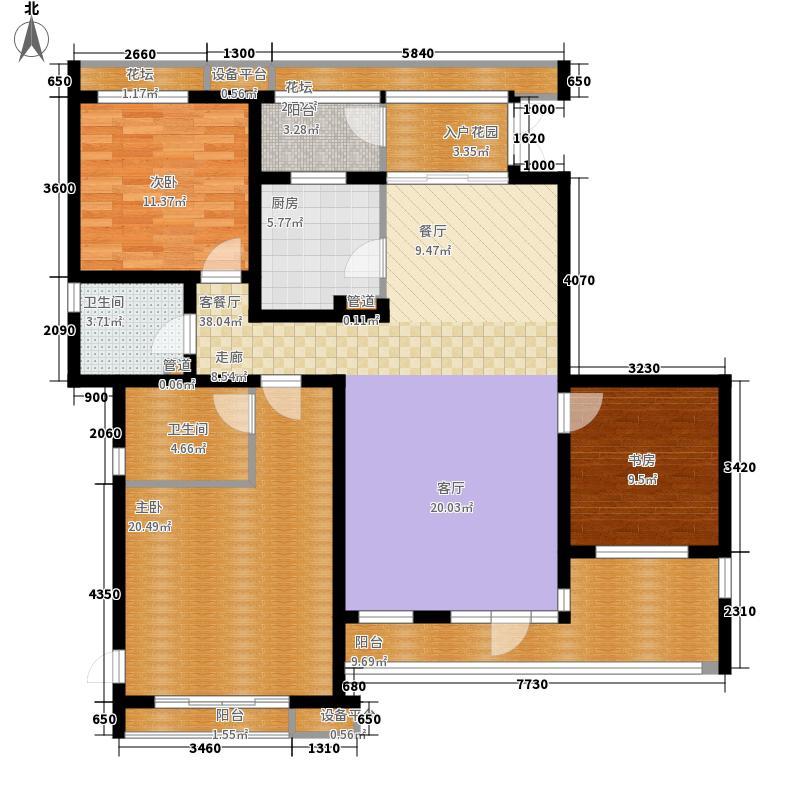 龙湖大城小院118.00㎡C3-5面积11800m户型