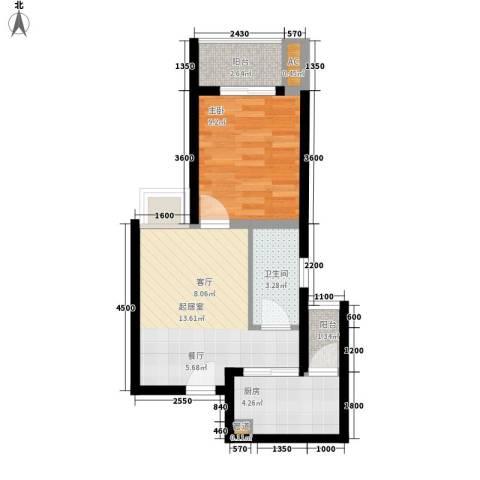 金杜洋光1室0厅1卫1厨39.00㎡户型图