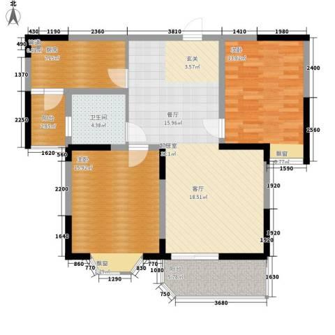 新地国际公寓二期2室0厅1卫1厨93.00㎡户型图