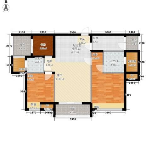雄森・安仁新城3室0厅2卫1厨128.00㎡户型图