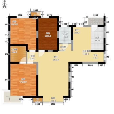 建投观海3室0厅2卫0厨127.00㎡户型图