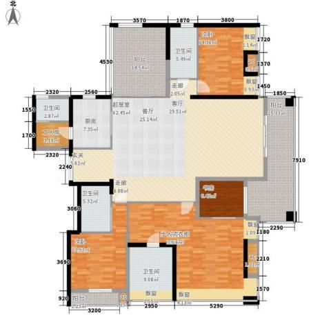 鸿基紫韵4室0厅4卫1厨224.00㎡户型图