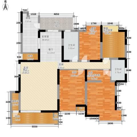 大唐通善坊3室0厅2卫1厨198.00㎡户型图
