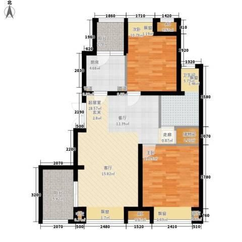 新浦江城2室0厅1卫1厨109.00㎡户型图
