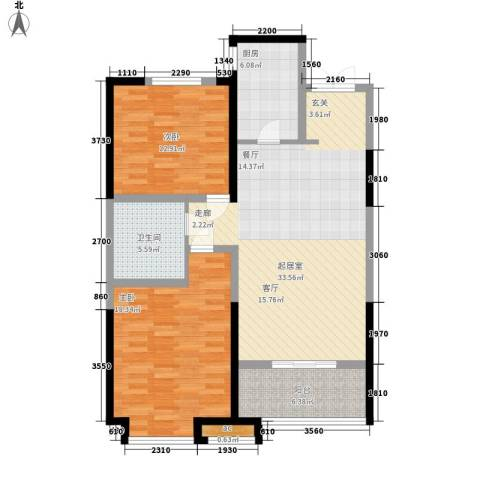 世融嘉轩2室0厅1卫1厨95.00㎡户型图