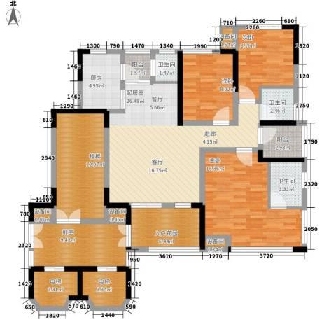 南方书苑湖畔3室0厅3卫1厨112.16㎡户型图