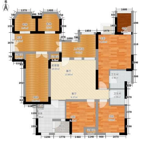 南方书苑湖畔4室0厅2卫1厨102.84㎡户型图