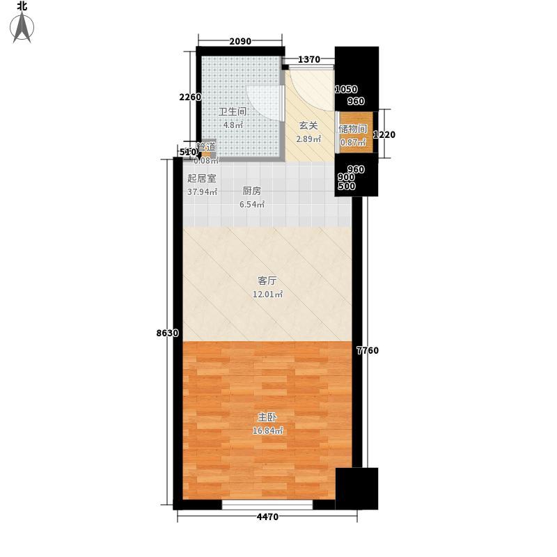 中银城市广场48.67㎡公寓户型