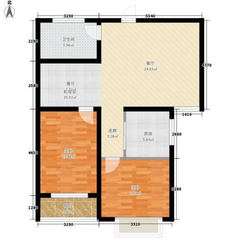 香格里拉花园2室0厅1卫1厨106.00㎡户型图