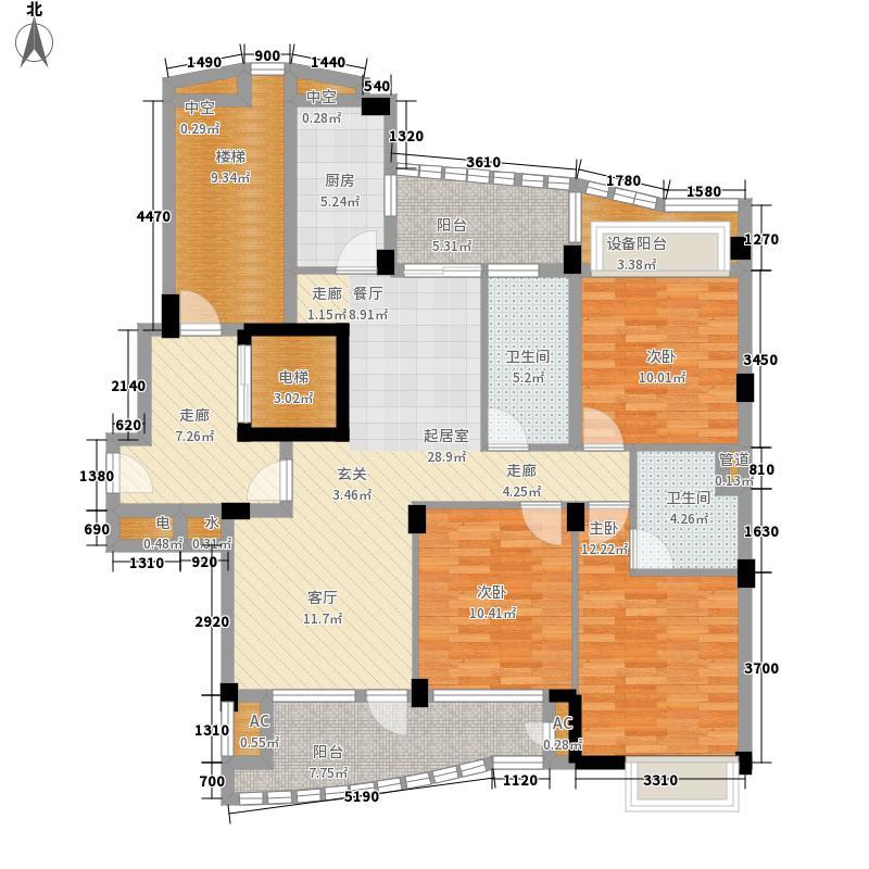 绿城蔚蓝公寓135.00㎡二期C1b户型