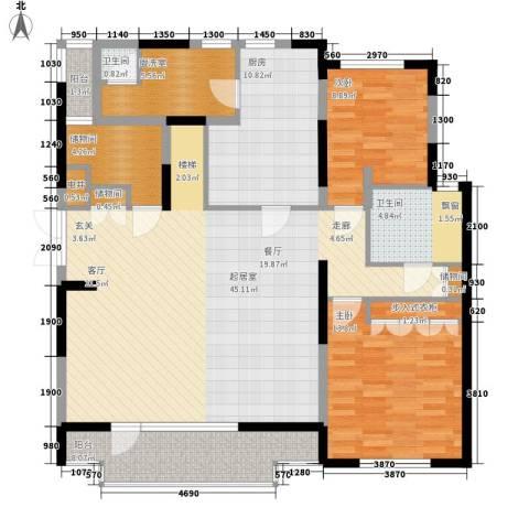 万科魅力之城2室0厅2卫1厨205.00㎡户型图