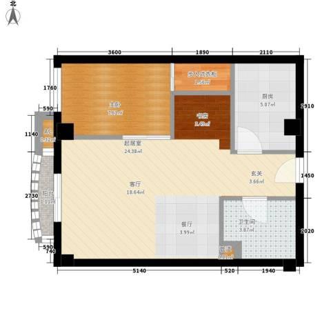 国际海景城1室0厅1卫1厨100.00㎡户型图