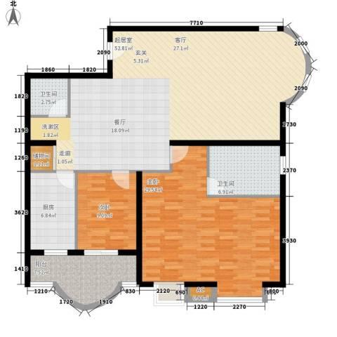 国际海景城2室0厅2卫1厨130.00㎡户型图