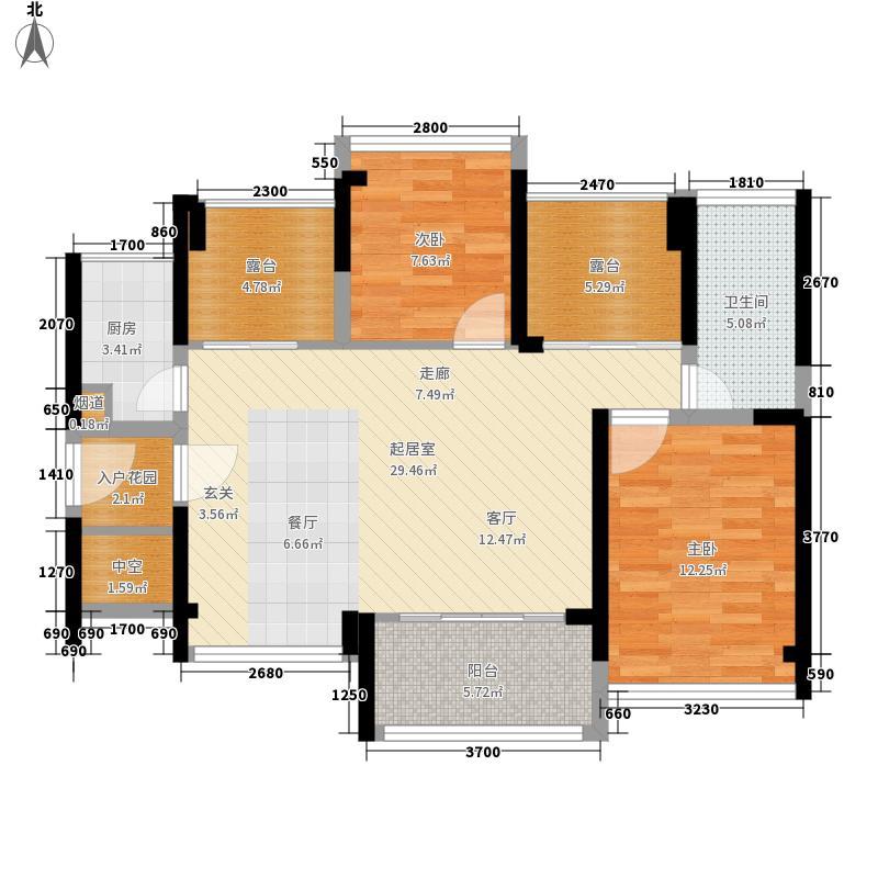 御景台雅园88.00㎡A/B栋A户型2室2厅