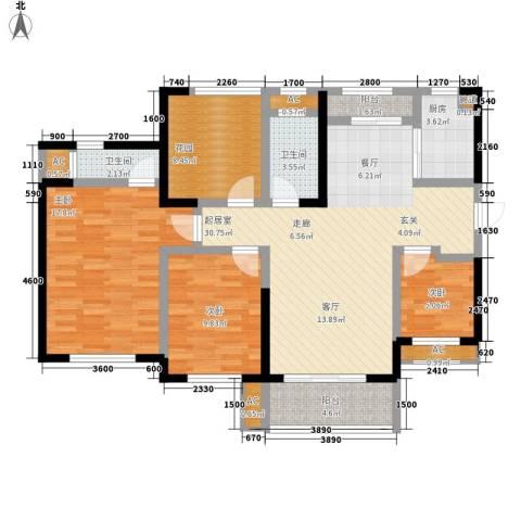 胜家雅苑3室0厅2卫1厨114.00㎡户型图