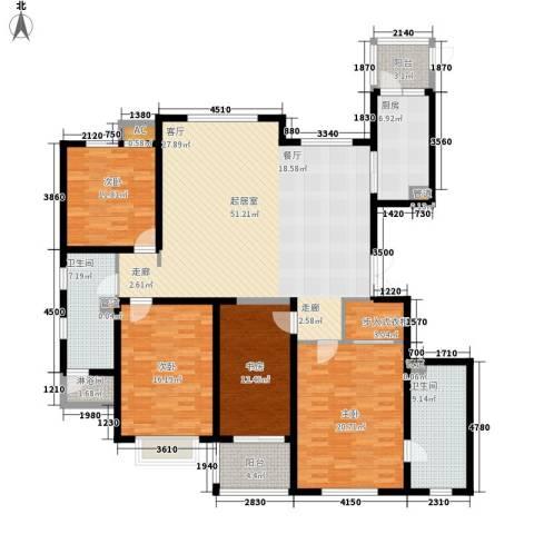 静海苑4室0厅2卫1厨169.03㎡户型图
