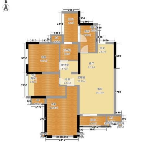 合能璞丽3室0厅1卫1厨79.00㎡户型图