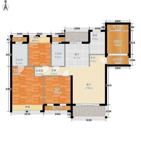 雄森・安仁新城3室0厅2卫1厨160.00㎡户型图