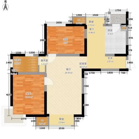 建投观海2室0厅1卫0厨101.00㎡户型图