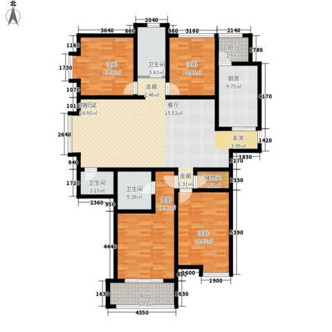 桃源山庄4室0厅3卫1厨160.52㎡户型图