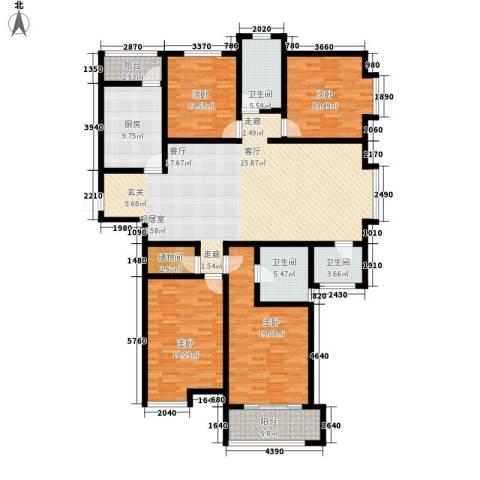 桃源山庄4室0厅3卫1厨170.20㎡户型图