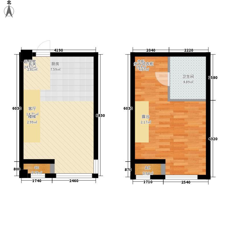 建邦时代汇38.00㎡一期公寓标准层D户型