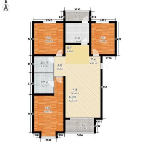 桃源山庄3室0厅2卫1厨133.24㎡户型图