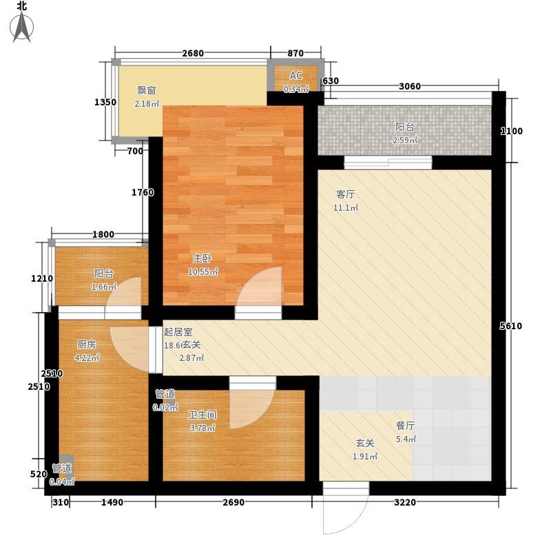 国宾豪庭44.10㎡J面积4410m户型