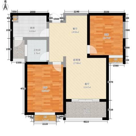 嘉福小区2室0厅1卫1厨107.00㎡户型图