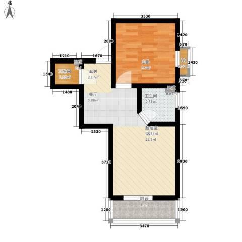 国宾豪庭1室0厅2卫0厨44.00㎡户型图