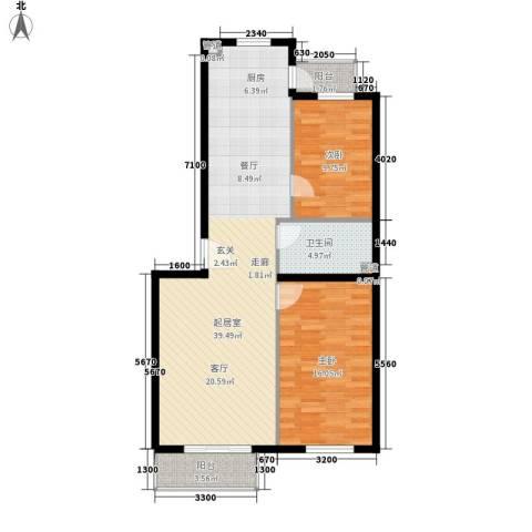 锦绣公馆2室0厅1卫0厨106.00㎡户型图