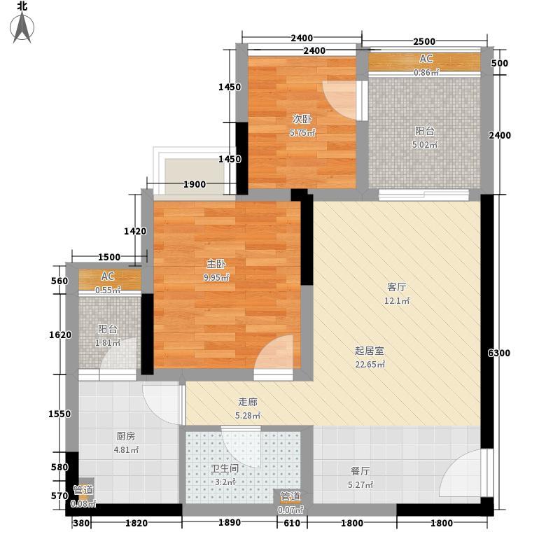 元佳广场56.90㎡3-02面积5690m户型
