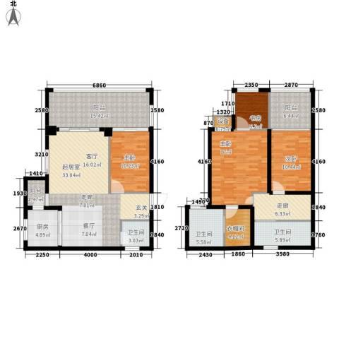 保利国际高尔夫公馆4室0厅3卫1厨149.00㎡户型图