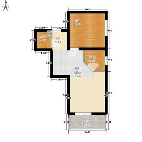 国宾豪庭1室0厅2卫0厨41.00㎡户型图