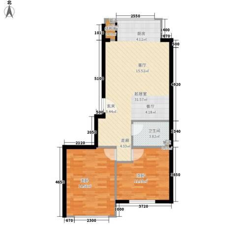 锦绣公馆2室0厅1卫0厨85.00㎡户型图