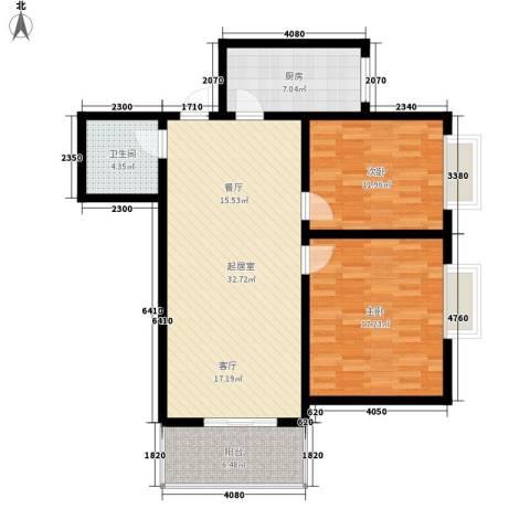 银泰新苑2室0厅1卫1厨112.00㎡户型图