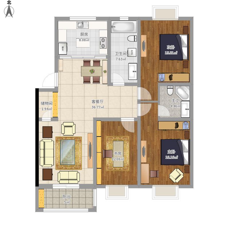 104号三居室