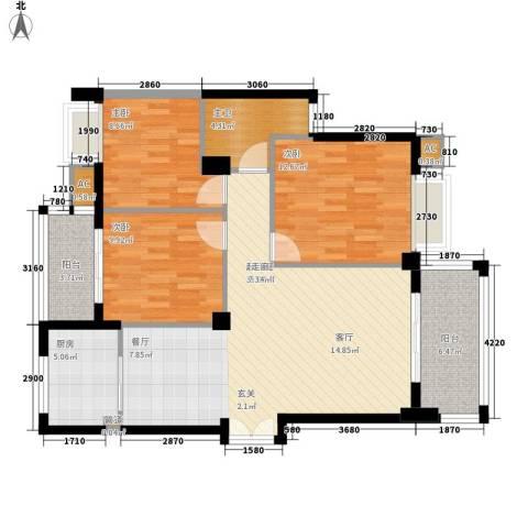 香岸华府3室0厅0卫1厨119.00㎡户型图