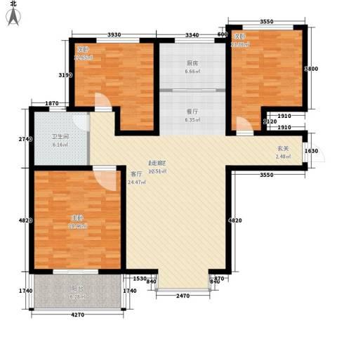 鲁港新村3室0厅1卫1厨154.00㎡户型图
