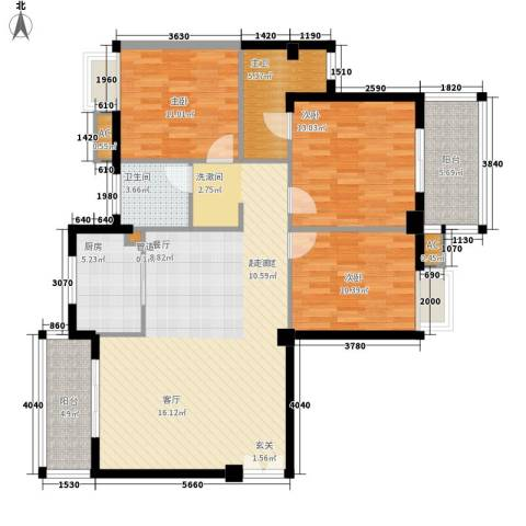 香岸华府3室0厅1卫1厨140.00㎡户型图