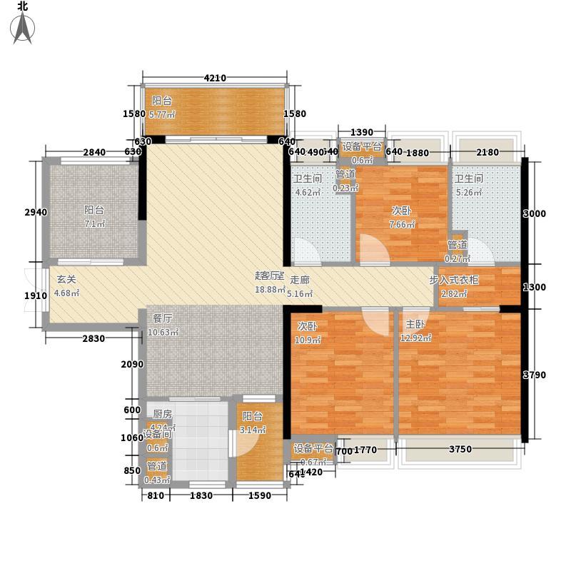 保利西雅图121.00㎡19栋02单位户型