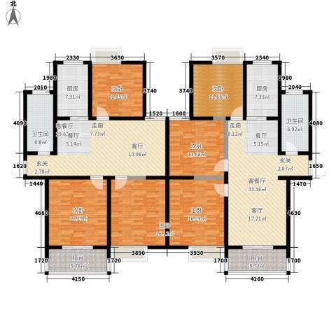 爱琴海花园6室2厅2卫2厨270.00㎡户型图